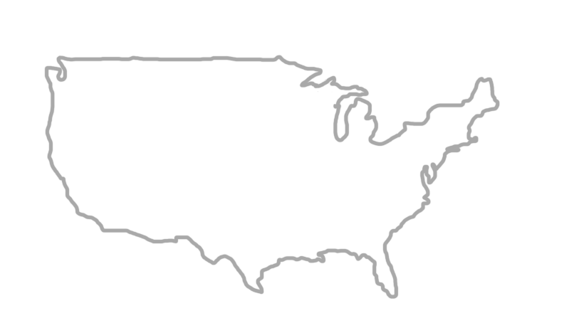 Map of the continental US